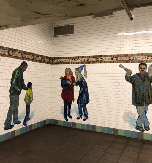New York  地下鉄グラフィティアート